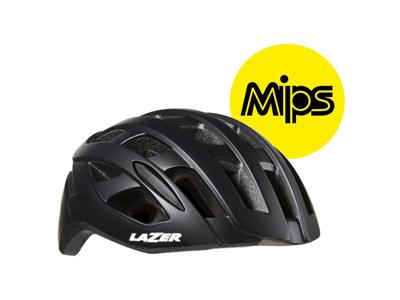 Lazer Tonic MIPS - Cykelhjelm Road - Mat sort