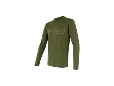 Sensor Merino Active Performance - T-shirt m. lange ærmer - Herre - Grøn