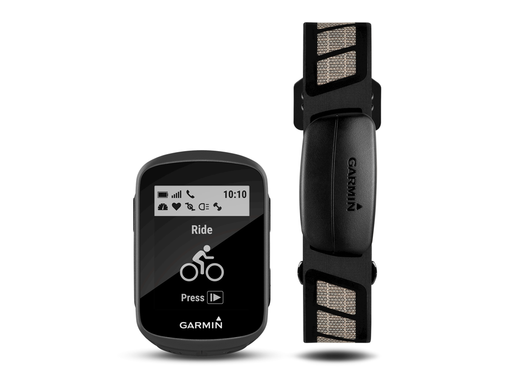 Garmin Edge 130 Plus HR bundle - GPS Cykelcomputer inkl. pulsbælte thumbnail