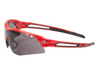 Ongear Veleta - Cykelbrille med PC Smoke linse - Mat rød