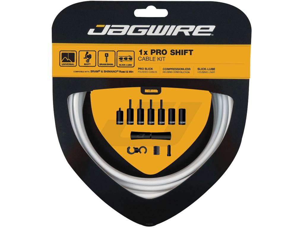 Image of   Jagwire - Pro Shift - 1x Gearkabel sæt - Road/MTB - Hvid