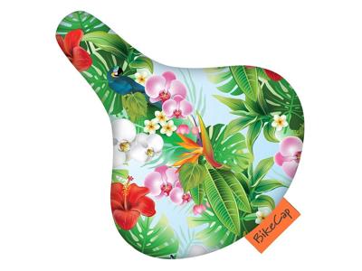 Bikecap - Vandtæt sadelovertræk - Universal - Tropical flower