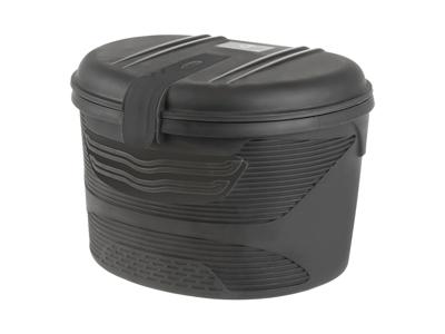 M-Wave Amsterdam Box Front - Boks til for - Hård plast - Låsbar med nøgle - Sort - Str. 17