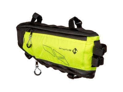 M-Wave Rough Ride - Cykeltaske til stel - Vandtæt - Neongul - Str. op til 4.2 liter