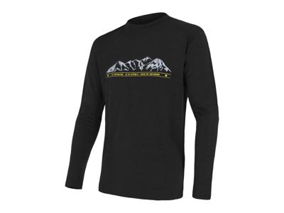 Sensor Merino Active Performance - T-shirt med långa ärmar - Herrar - Svart