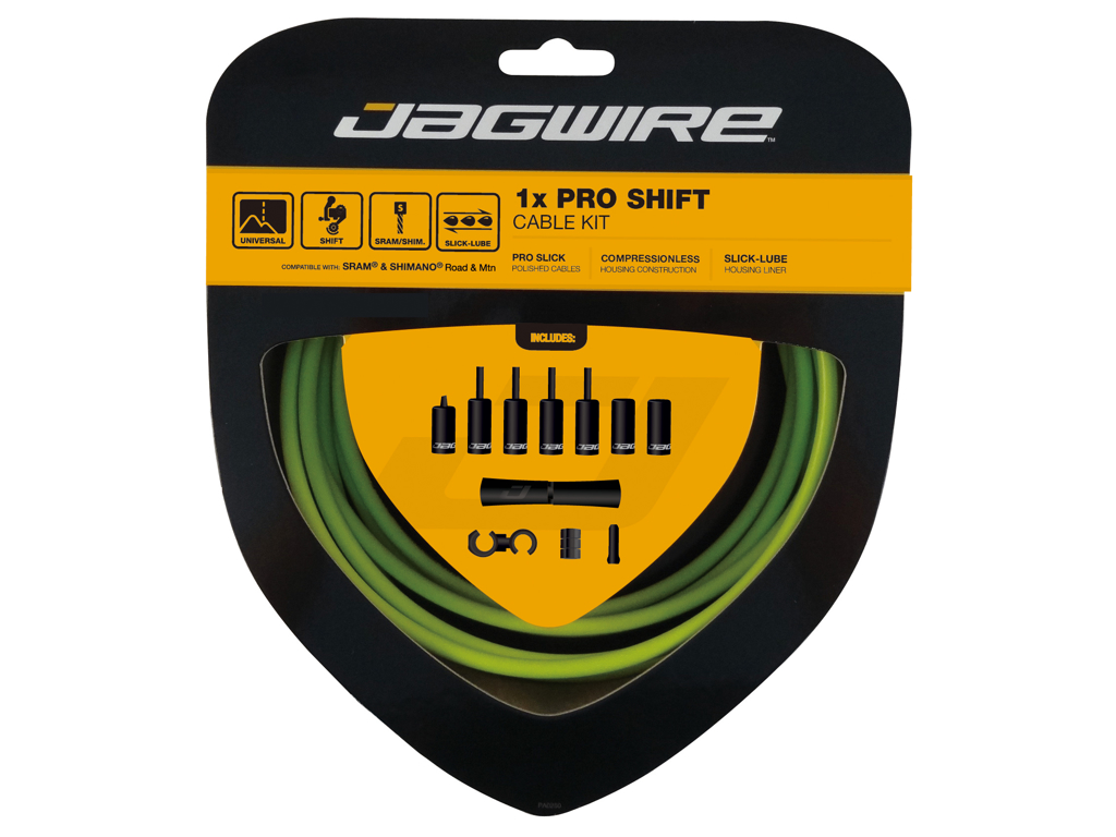Image of   Jagwire - Pro Shift - 1x Gearkabel sæt - Road/MTB - Grøn