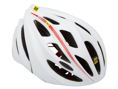 Mavic Syncro - Cykelhjelm - Hvid/Rød
