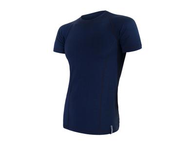 Sensor Merino Double Face - T-shirt m. korte ærmer - Herre - Blå