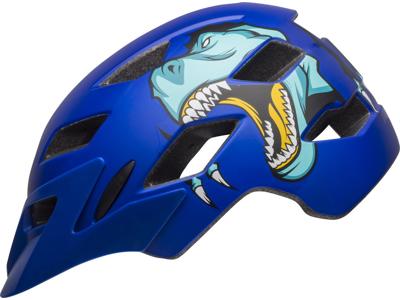Bell Sidetrack Kids - Sykkelhjelm - Mat blå T-rex