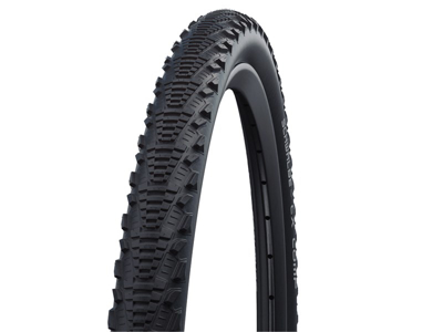 Schwalbe CX Comp - Kevlar-Guard Cross - Tråddæk - 20x1,75 - Sort refleks
