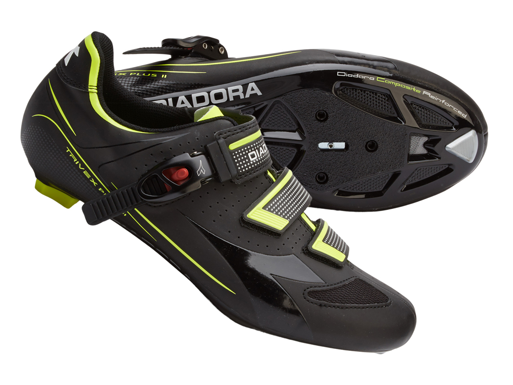 Image of   Diadora Trivex Plus - Cykelsko - Unisex - Sort/Gul - Str. 42