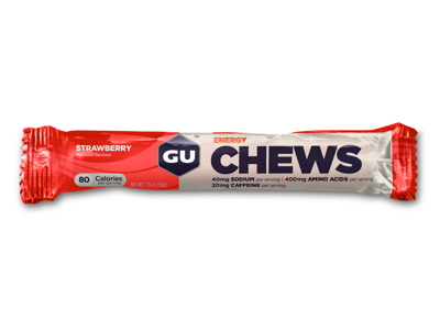 GU Chews - Energi vingummi - Strawberry - 54 gram