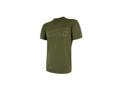 Sensor Merino Active Performance - T-shirt m. korte ærmer - Herre - Grøn