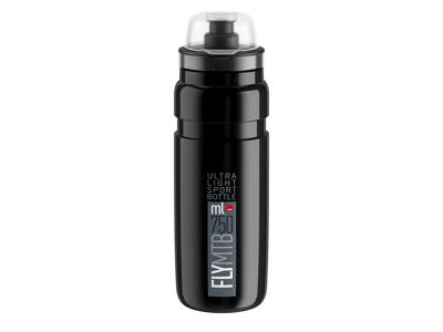 Elite Fly MTB - drikkeflaske 750 ml - 100% biologisk nedbrytbart - svart