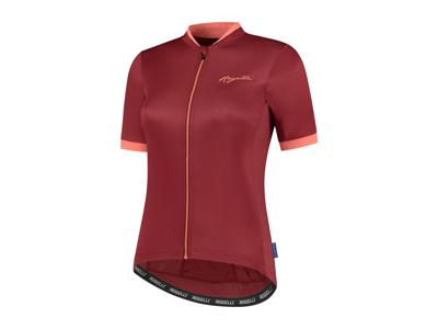 Rogelli Essential - Cykelbluse - Dame - Korte ærmer - Race Fit - Bordeaux/Coral