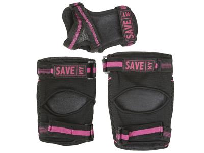 Save My Bones - Beskyttelsessæt - Sort/Pink