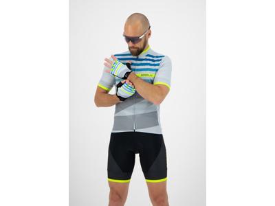 Rogelli Stripe - Cykelhandske - Dynaflex - Grå/Gul