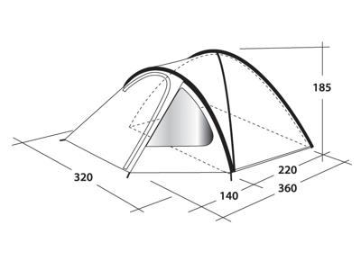 Outwell Cloud 5 - Telt - 5 personers - Blå/grå