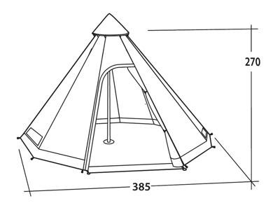 Easy Camp Moonlight Tipi - Tipi-Telt - 8 Personer - Brun