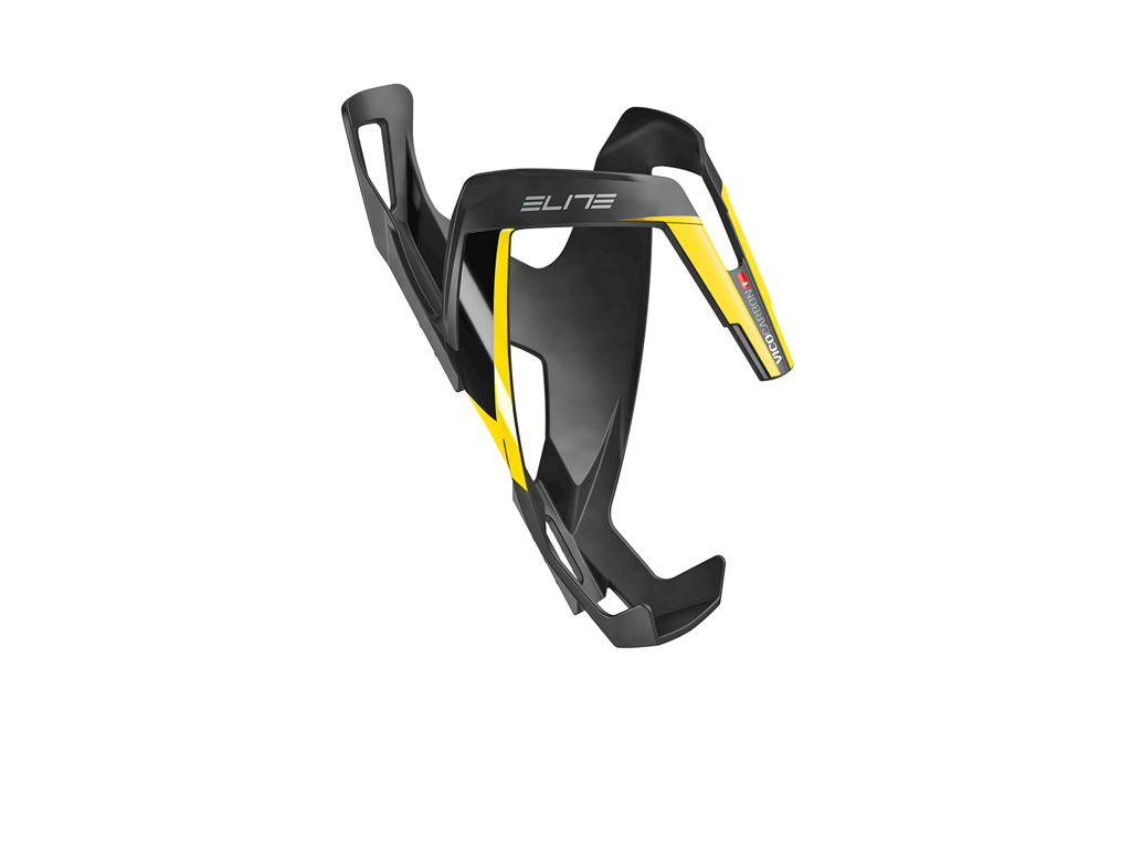 Image of   Elite Vico - Flaskeholder Carbon - Carbon mat Yellow graphic