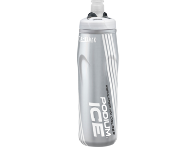 Camelbak Podium Ice - Drikkeflaske 0,62 liter - 100% BPA fri - Sølv/Hvid