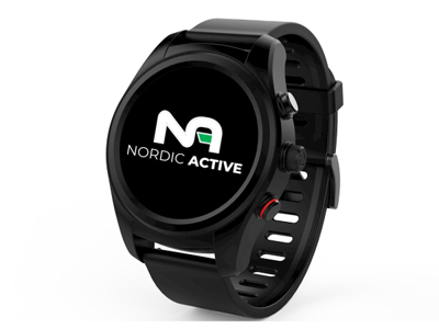 Nordic Active S10+ GPS Løbeur - Med Aktivitetstracker - Sort