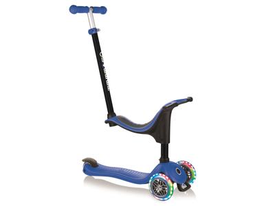 Globber Go-Up Sporty Lights - 4 i 1 Løbehjul til børn - Blå