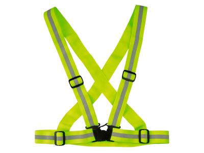WOWOW Cross belt - Refleksbælte - Neongul - One size