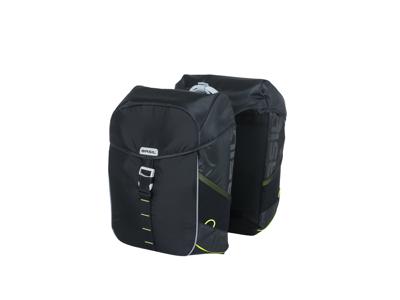 Basil Miles Double Bag - Cykeltasker til bag - 34 liter - Black lime
