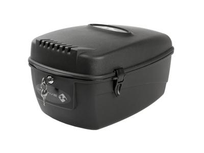 M-Wave Amsterdam Box L - Boks til bagagebærer - Hård plast - Låsbar med nøgle - Sort