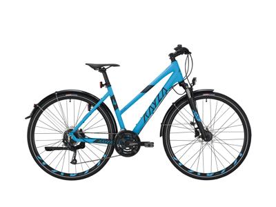 "KAYZA Niti Dry 4 Ljusblå / svart 24 växlar 28"" hjul"