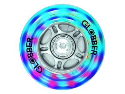 Globber - Nylon hjul med LED lys til løbehjul - 1 stk - 80mm - Grå