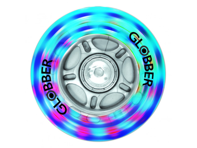Globs - Nylonhjul med LED-lys til scootere - 1 stk - 80mm - Grå