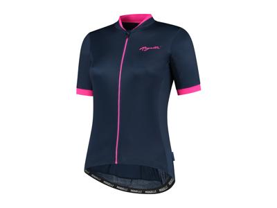 Rogelli Essential - Cykelbluse - Dame - Korte ærmer - Race Fit - Blå/Pink