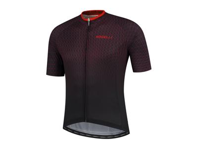 Rogelli Weave - Cykeltrøje - Korte ærmer - Sort/Rød