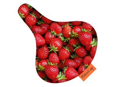 Bikecap - Vandtæt sadelovertræk - Universal - Strawberries
