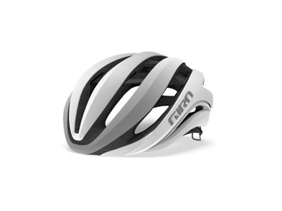 Giro Aether Mips - Cykelhjelm Road - Mat hvid/sølv