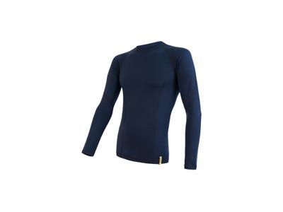 Sensor Merino Double Face - T-shirt m. lange ærmer - Herre - Blå