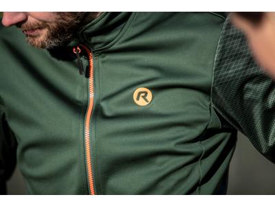 Rogelli Wire - Vinterjacka - 0 till 10 grader - Grön / orange
