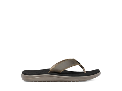 Teva M Voya Flip Leather - Sandal til mænd - Dark Olive - Str 42