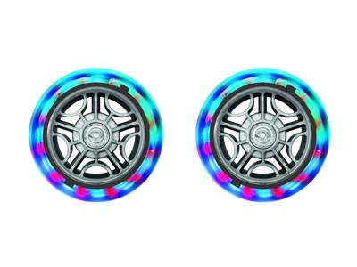 Globs - Nylonhjul med LED-lys for scootere - 2 stk - 121mm - Grå