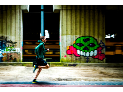 Rogelli Matrix - Sports trøje hooded - Grøn/Gul