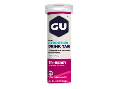 GU Hydration Tabs - Tri-Berry - 1  x 12 stk.
