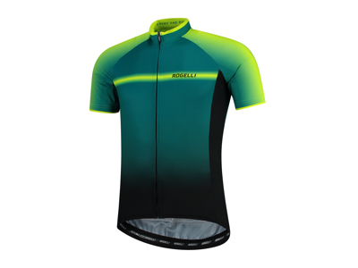 Rogelli Dex - Cycling Jersey - Race Fit - Black / Green