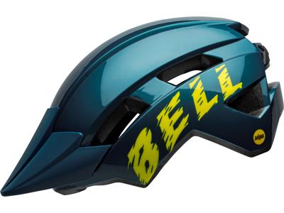 Bell Sidetrack Junior Mips - Sykkelhjelm - Størrelse 50-57 cm - Blå med gul