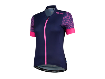 Rogelli Wave - Cykelbluse - Dame - Dynacool - Blå/Pink