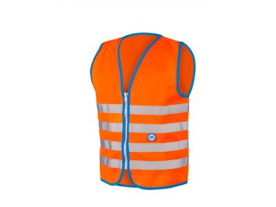 WOWOW Fun jacket - Refleksvest med lynlås til børn - Orange