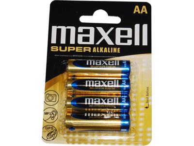 Maxell - Batteri - AA/LR06 Alkaline S - 4 stk