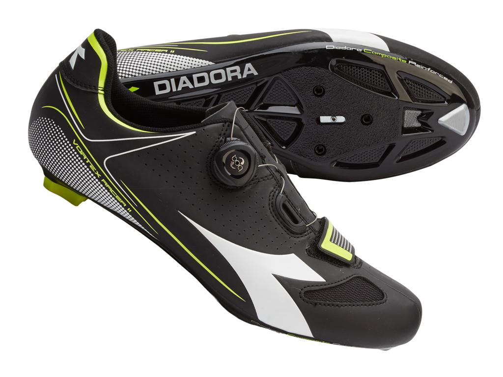 Diadora - Vortex Racer II - Cykelsko - Unisex - Sort/Hvid - Str. 40 thumbnail