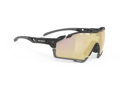 Rudy Project Cutline - Løbe- og cykelbrille - Multilazer gold linser - Sort gloss